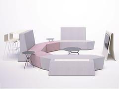 Sistema modulare di sedute in tessutoROCKS | Panca modulare - SITIA