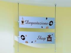 Divisorio ufficio freestandingROD BAR S | Cartello segnalatore sospeso - STUDIO T