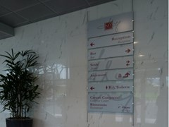 Cartello segnalatore a parete in acciaio inoxROD BAR S | Cartello segnalatore - STUDIO T
