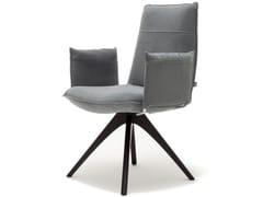 Sedia in tessuto con braccioli ROLF BENZ 606 | Sedia con braccioli -
