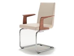 Sedia a sbalzo in pelle con braccioli ROLF BENZ 620 | Sedia con braccioli - Rolf Benz 620