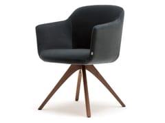 Sedia su trespolo in tessuto con braccioli ROLF BENZ 640 | Sedia con braccioli -