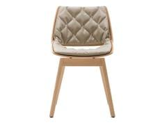 Sedia con cuscino integrato ROLF BENZ 650 | Sedia in legno - Rolf Benz 650