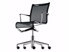 Sedia ufficio operativa ad altezza regolabile girevole con braccioli ROLLINGFRAME - 434 - Frame