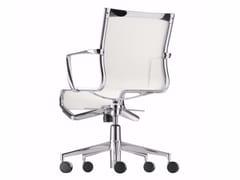 Sedia ufficio operativa ad altezza regolabile con braccioli con ruote ROLLINGFRAME+ LOW TILT - 443 - Frame