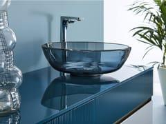 Lavabo da appoggio rotondo singolo in cristalloROMA - ARTELINEA