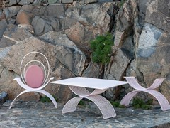 Tavolo da giardino rettangolare in acciaio verniciato a polvereROMANA | Tavolo - ISIMAR