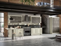 Cucina laccata con penisola ROMANTICA 01 - FEBAL CASA BY COLOMBINI GROUP