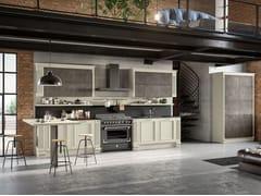 Cucina laccata con penisola ROMANTICA 01 -