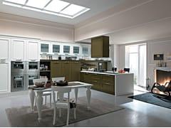 Cucina componibile laccata con penisola ROMANTICA | Cucina con penisola -