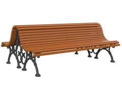 Panchina in pino con schienaleROMANTICA - LAZZARI SRL