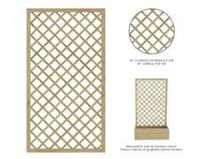 Griglia per verde verticale autoportante in legnoROMBO - ZURI DESIGN
