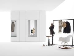 Armadio con specchio girevole e terminale appendiabiti ROOMY | Armadio con specchio - Roomy