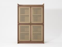 Credenza in legno massello e rattanROOTS   Credenza - KARPENTER