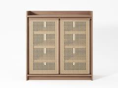 Scarpiera in legno massello e rattanROOTS | Scarpiera - KARPENTER