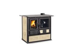 Cucina a legna con rivestimento in maiolicaROSA - LIBERTY - LA NORDICA EXTRAFLAME
