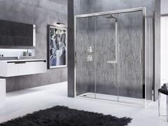 Box doccia angolare con porta scorrevoleROSE ROSSE | 3P + F - NOVELLINI