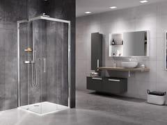 NOVELLINI, ROSE ROSSE A Box doccia angolare con porta scorrevole