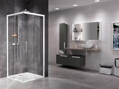 Box doccia angolare con porta scorrevoleROSE ROSSE | A - NOVELLINI