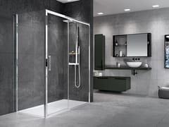 NOVELLINI, ROSE ROSSE F Box doccia angolare con porta scorrevole