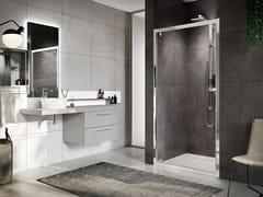 NOVELLINI, ROSE ROSSE G Box doccia angolare con porta pivotante
