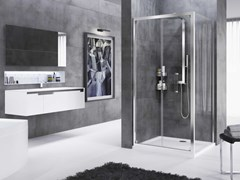 Box doccia angolare con porta a soffiettoROSE ROSSE | S + F - NOVELLINI