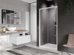 Box doccia a nicchia con porta a soffiettoROSE ROSSE | S - NOVELLINI