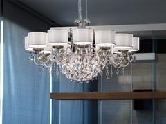 Lampadario a luce diretta e indiretta in metallo in stile moderno con cristalli ROSEMERY 12 - Rosemery