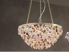Lampada a sospensione a luce diretta in metallo con cristalli ROSEMERY 4 - Rosemery