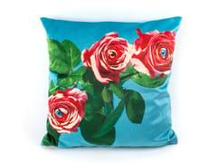 Cuscino quadrato in tessuto ROSES | Cuscino - Seletti wears Toiletpaper