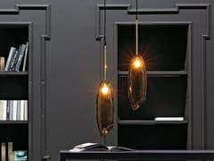 Lampada a sospensione in vetro di MuranoROSY GOLD - ADRIANI E ROSSI EDIZIONI