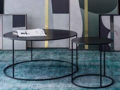 Tavolino rotondo in metallo in stile moderno da salottoROUND - ADRIANI E ROSSI EDIZIONI