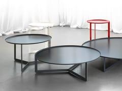Tavolino rotondo in metallo da salotto per contractROUND - MEMEDESIGN
