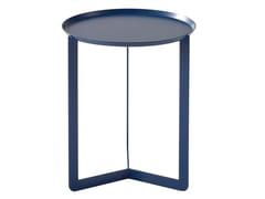 Tavolino rotondo in metallo da salotto per contract ROUND - meme design