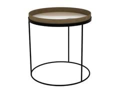 Tavolino in metallo con vassoio ROUND TRAY TABLE - LARGE -