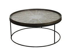 Tavolino rotondo con vassoio ROUND TRAY TABLE LOW XL - Accent tables
