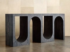 Consolle rettangolare in legno masselloROXBURY - KELLY WEARSTLER