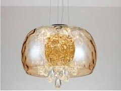 Lampada a sospensione a LED a luce diretta in vetroRUBINA | Lampada a sospensione - ARREDIORG