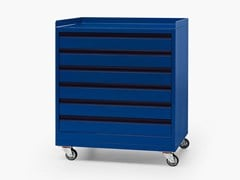 Carrello tecnico in metallo con cassetti RUN | Carrello con cassettiera - Run