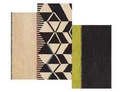 Tappeto fatto a mano rettangolare in lana a motivi geometrici RUSTIC CHIC   Tappeto a motivi geometrici - Rustic Chic