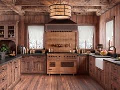 Cucina lineare in legno impiallacciatoRUSTICA - DOORWAY