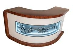 Banco reception in legno con illuminazioneBanco reception - ADELFI LUXURY