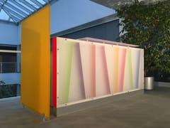 Banco reception in plexiglass con illuminazione banco per