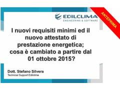 EDILCLIMA, Requisiti minimi e APE: DM 26.6.2015 Videocorso per certificatori energetici e ambientali