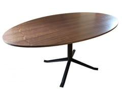Tavolo ovale in acciaio e legnoSÉVERIN | Tavolo ovale - ALEX DE ROUVRAY DESIGN