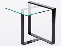 Tavolino / comodino in acciaio e vetroSÉVERIN | Tavolino quadrato - ALEX DE ROUVRAY DESIGN
