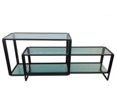 Tavolo doppio in acciaio e vetroS_LONG - CASTELLANI.IT