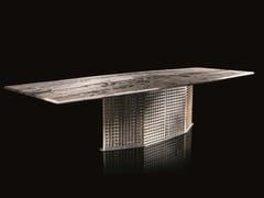 Tavolo rettangolare in acciaioS-PENNY - H-07