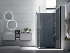 Box doccia angolare con porta pivotante S6 PERFORMANCE - 120 X 80 | Box doccia con porta pivotante -
