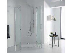 TAMANACO, S8 MILL INFINITY Box doccia angolare con porta a battente